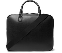 Sartorial Cross-grain Leather Briefcase