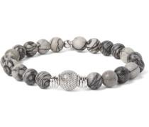 Stonehenge Sterling Silver And Spiderweb Jasper Bracelet