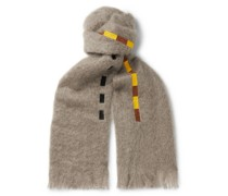 Settler Fringed Embroidered Mohair Scarf