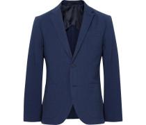 Blue Grant Slim-fit Cotton-seersucker Blazer