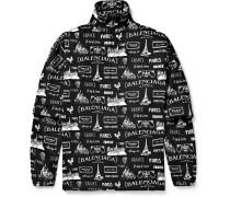 Oversized Printed Cotton-Twill Jacket