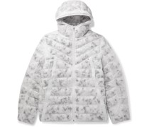 Sportswear Logo-Embroidered Quilted Camouflage-Print Shell Jacket