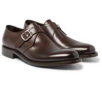 Bristol Polished-leather Monk-strap Shoes