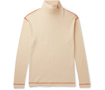 Eye/LOEWE/Nature Logo-Embroidered Ribbed Cotton-Jersey Rollneck T-Shirt