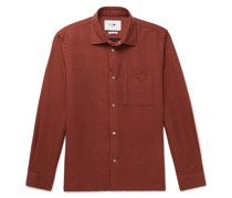 Basso Double-Faced Cotton-Flannel Overshirt
