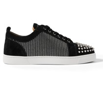 Louis Junior Spikes Orlato Suede and Canvas Sneakers