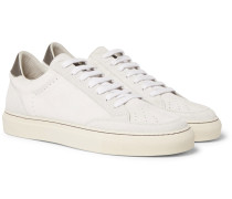 Apollo Leather-trimmed Suede Sneakers