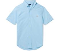 Slim-Fit Button-Down Collar Garment-Dyed Cotton-Oxford Shirt