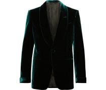 Emerald Slim-Fit Shawl-Collar Velvet Tuxedo Jacket