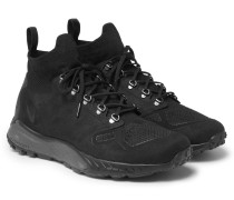 Zoom Talaria Suede And Flyknit Mesh Sneakers