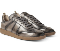 Germain Polished-leather Sneakers