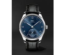 Portugieser Automatic 40.4mm Stainless Steel and Alligator Watch, Ref. No. IW358305