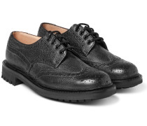 Mcpherson Textured-leather Wingtip Brogues