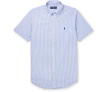 Slim-fit Striped Cotton-seersucker Shirt