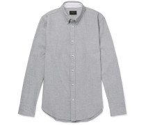 Slim-fit Button-down Collar Brushed Cotton-twill Shirt