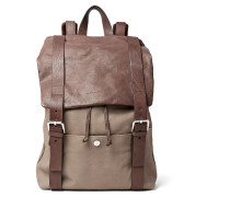 Full-grain Nubuck And Leather Backpack