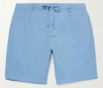 Tank Garment-Dyed Cotton and Linen-Blend Drawstring Shorts