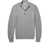 Honeycomb-knit Cashmere Sweater