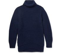 Oversized Waffle-knit Wool And Cashmere-blend Rollneck Sweater