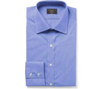Navy Cristallo Slim-fit Cotton Shirt