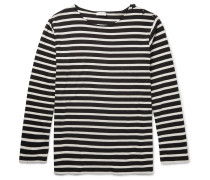 Distressed Striped Cotton T-shirt