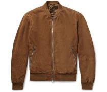 Mayfair Suede Bomber Jacket