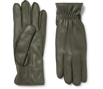 Chopin Cashmere-lined Full-grain Leather Gloves