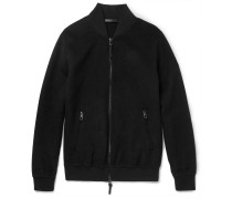 Slim-fit Cashmere Bomber Jacket