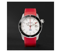 Oracle I Automatic Chronometer 43mm Stainless Steel Watch with Rubber and Kevlar Straps