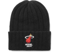 + Nba Miami Heat Appliquéd Ribbed Cashmere Beanie