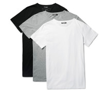 Three-pack Slim-fit Distressed Cotton-jersey T-shirts