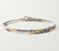 Counterpoint Sterling Silver and Gold-Filled Wrap Bracelet