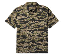 Safari Camouflage-print Cotton-seersucker Shirt