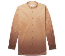 Dwayne Grandad-collar Dégradé Cotton Shirt