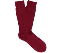 Ribbed Cashmere-blend Socks