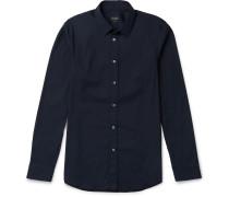 Slim-fit Stretch Cotton-blend Shirt