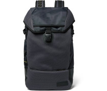 Bust Merge Lab 2 Leather-trimmed Canvas And Mesh Backpack