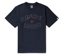 Heart & Mind Swarovski Crystal-Embellished Cotton-Jersey T-Shirt