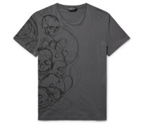 Slim-fit Skull-print Cotton-jersey T-shirt