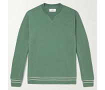 Contrast-Tipped Loopback Organic Cotton-Jersey Sweatshirt