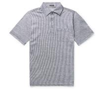 Striped Slub Linen Polo Shirt
