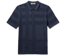 Piqué-panelled Silk And Cotton-blend Polo Shirt