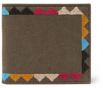 Embroidered Canvas Wallet