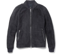 Gorin Perforated Suede Bomber Jacket