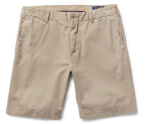 Pima Cotton-twill Chino Shorts