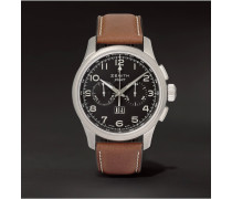Pilot Stainless Steel And Leather Watch