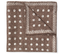 Polka-dot Silk-jacquard Pocket Square