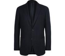 Blue Slim-fit Wool And Cashmere-blend Blazer