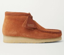 Wallabee Leather-Trimmed Brushed-Suede Desert Boots
