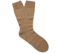 Packington Ribbed Merino Wool-blend Socks